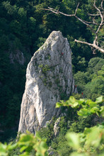 Climbers On The Rock Of Cukrova Homola, Zadielska Valley, Slovak Karst, Slovakia