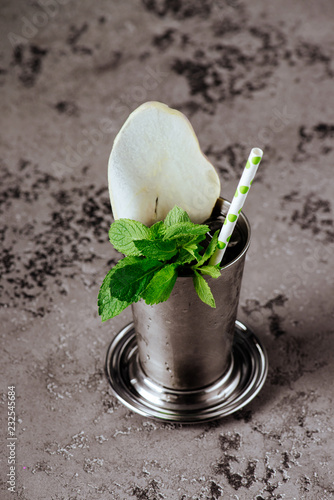 Fotografia, Obraz  Cocktail Mint julep with ice isolated on white background