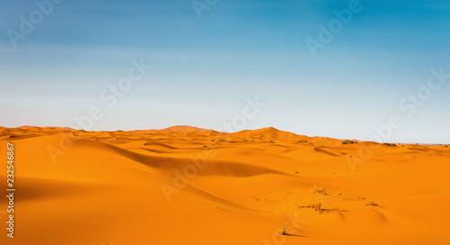 Keuken foto achterwand Zandwoestijn Majestic beautiful scene of Merzouga dunes of Sahara desert Morocco