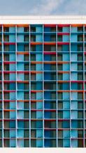 Modular Colorful Facade Backgr...