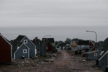 View On Small Arctic City Or V...