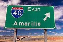 Interstate 40 To Amarillo Texa...