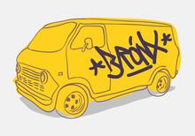 Bronx Graffiti Tagged Yellow A...