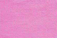 Texture Of Pink Wool Knitted Fabric Close Up, Abstract Textile Background, Concept Warm Clothing