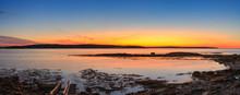 Quiet Harbor Sunrise Panorama