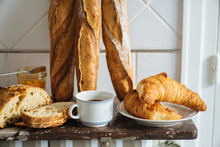 Traditional French Bread And Baget