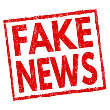 Fake News Sign Or Stamp