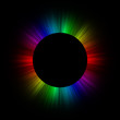 canvas print picture Full spectrum rainbow full eclipse