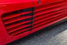 Door On Red Sports Car