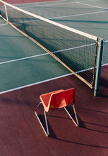 Single Chair By Tennis Court