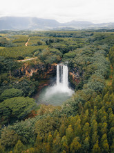 Aerial View Of Waterfall In Ma...