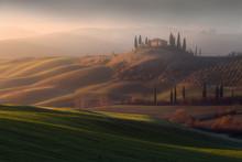 Misty Sunrise In Tuscany
