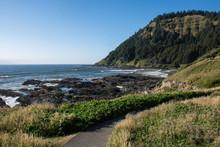Rocky Ocean Shoreline During L...