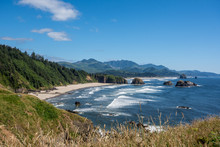 Ecola State Park In Oregon On A Sunny Summer Day