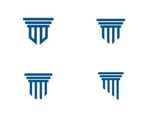 Pillar Logo Template. Column Vector Design