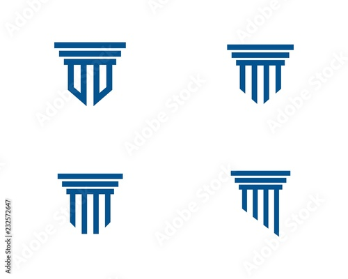 Pillar Logo Template. Column Vector Design Canvas