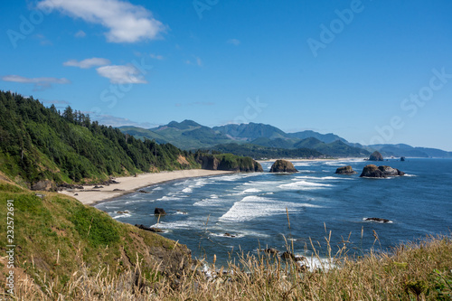Photo Ecola State Park in Oregon on a sunny summer day