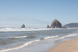 Cannon Beach Oregon with a view of the famous Haystack Rock