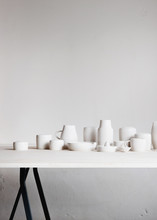 Still Life Of Handmade Ceramics