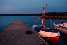 Sunset Fishing Boat.