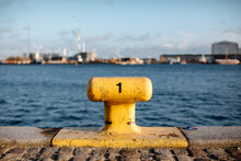 Yellow Mooring Bollard