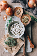 Ingredients For A White Beans And Fennel Soup