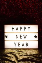 Happy New Year Written On A Li...
