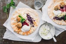 Food: Falafel With Quinoa Ball...