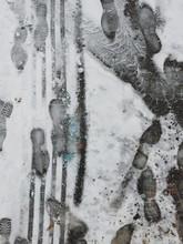 Footprints On Wet Snow