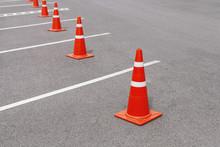 Traffic Cones In Parking Lots
