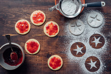 Traditional Linzer Cookies Making