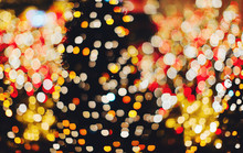 Many Colorful Blurred Christma...