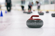 Curling: Thrown Stone Sits On ...