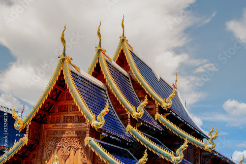 Foto op Aluminium Bedehuis The temple inside the Buddhist temple. And very beautiful.