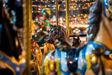 Carousel With Rocking Horses O...