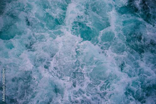 Foto auf Gartenposter Wasser Ice cold water from top with huge waves