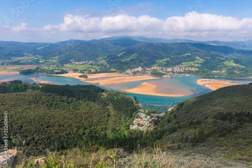 Panoramic view of Urdaibai reserve from San Pedro de Atxarre chapel, Vizcaya, Spain