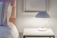 Table Lamp In A Bedroom