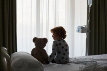 Silhouette Of A Patient Child ...
