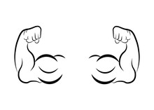 Muscle Icon. Arm Muscle Illustration - Flat Icon