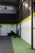 Corner Of The Interior Of An Empty Gym Or Fitness Club