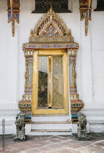 Golden ornament of temple porch