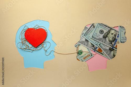 Love for money Canvas Print