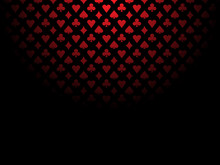 Card Suits Red Black Pattern Shadow