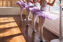 Children Practicing Ballet Pos...