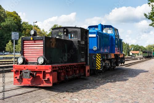Diesellokomotiven im Bahnbetriebswerk
