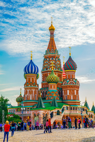 Tuinposter Asia land St Basil's Cathedral and Moscow Kremlin