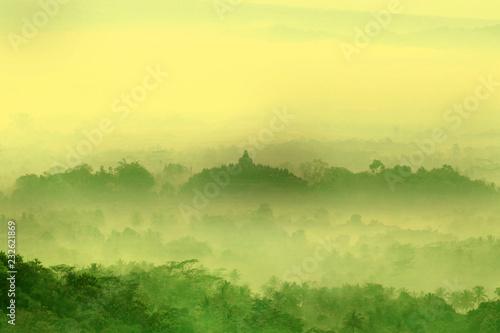 Scenic view of Borobudur temple