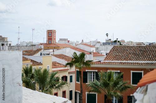 Fotografía  Landscape photography of the center of Mahon, Menorca.