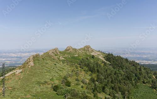 Obraz na płótnie Randonnée massif du Pilat colline trois dents France